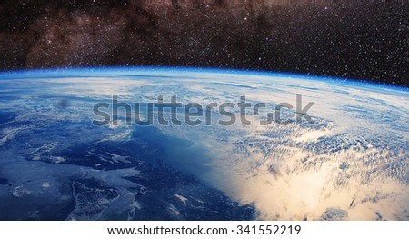 Earth space - Elements of this image furnished by NASA