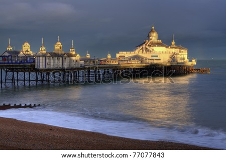Eastbourne pier basking in the afternoon sun