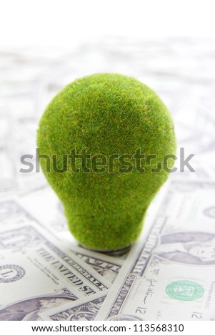 eco light bulb ,save money concept