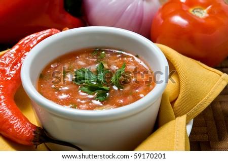 Ecuadorian food series: pepper sauce - stock photo