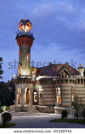 """El Capricho"" of A. Gaudi (Comillas,Spain)"
