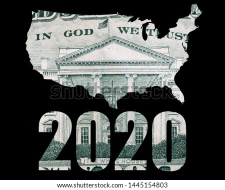 2020 Elections in America. Text and Money.