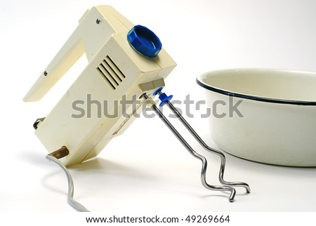 Electric food mixer isolated on white background