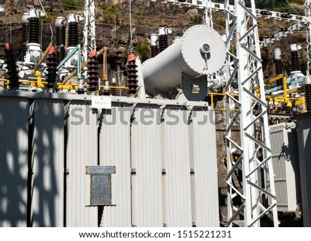 electric power generator in power plant
