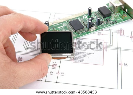 Electronic board with schematic