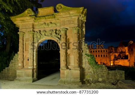 """""""Elizabethen"""" gate castle Heidelberg, Germany"""