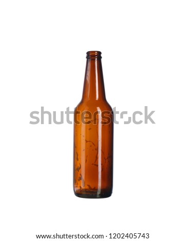 empty beer bottle on a white background #1202405743