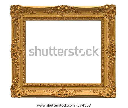empty picture frame ( with clipping path )