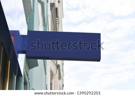 empty signboard. for message and company logo. mockup signboard #1390292201