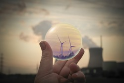 Energy transition from nuclear power to environmentally friendly technology