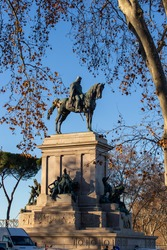 equestrian monument dedicated to Giuseppe Garibaldi