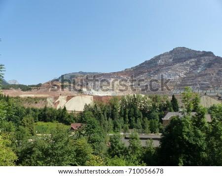 Erzberg mine is a large open-pit mine located in Eisenerz. Styria, Austria