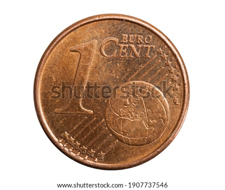 1 euro cent coin on white isolated background Stock photo ©