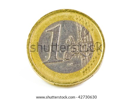 1 Euro-coin isolated on white