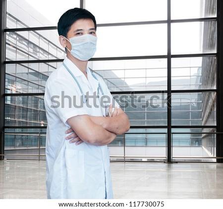 expertise handsome senior doctor hospital portrait  [Photo Illustration]