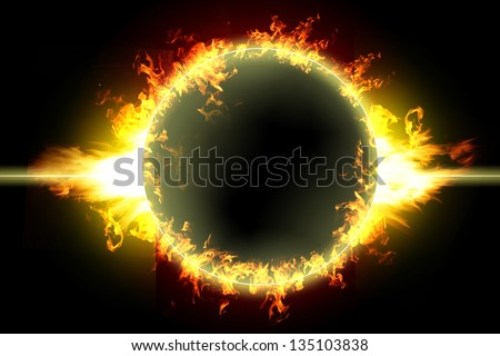 exploding planet earth ,ring on fire