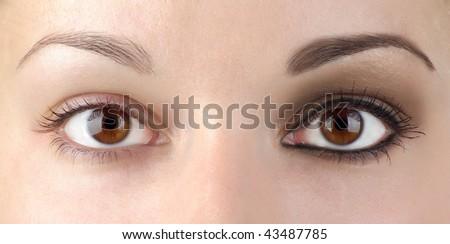 Eye make-up or no?