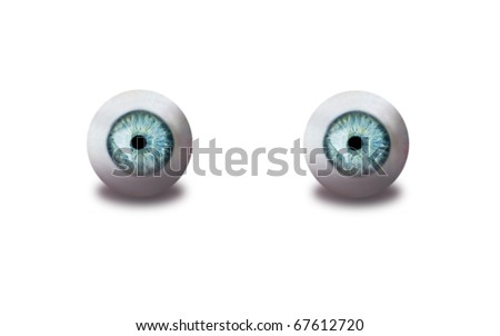 eyes isolated on white