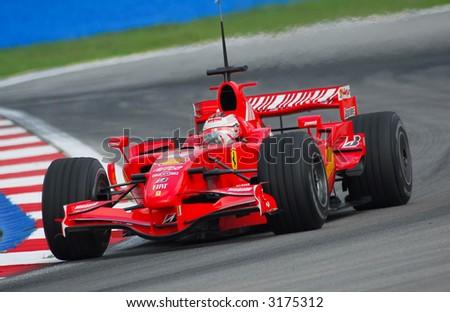 F1 Driver, Kimi Raikkonen, Scuderia Ferrari Team 2007