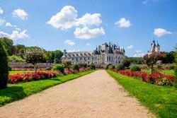 Famous castle garden in France