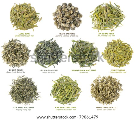 10 famous chinese green teas collection