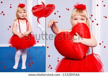 Fashion  little princess girl portrait #133284566