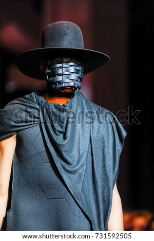 Fashion models represent different clothes from Rebook and Joga companies during runway presentation at Toronto Women Fashion Week on October 3, 2017 in Toronto, Canada