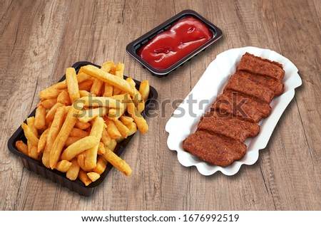 Fast food Snack and french fries. Each snack have a clipping path Foto stock ©