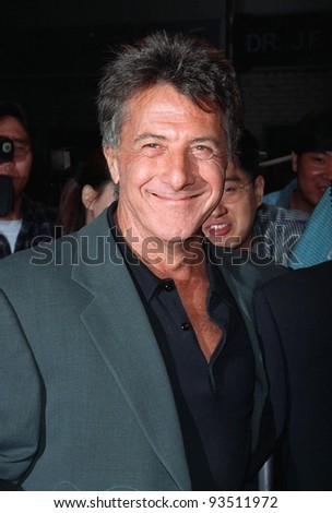 11FEB98:  Actor DUSTIN HOFFMAN at the premiere of his new  movie, \