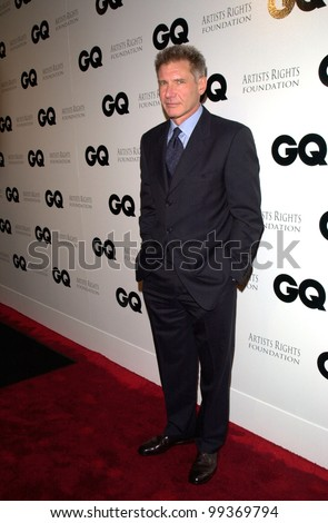 "16FEB2000: Actor HARRISON FORD at party in Los Angeles to unveil GQ Magazine's ""Leading Men of Hollywood"" March issue. Ford features on the cover with Tom Cruise.   Paul Smith / Featureflash"