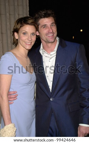 "03FEB2000:  Actor PATRICK DEMPSEY & wife JILL at the world premiere, in Los Angeles, of his new movie ""Scream 3.""  Paul Smith / Featureflash"