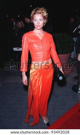 "10FEB99:  Actress ANGELA FEATHERSTONE at the premiere of her new movie ""200 Cigarettes"" a comedy set in New York on New Year's Eve 1981.  Paul Smith/Featureflash"