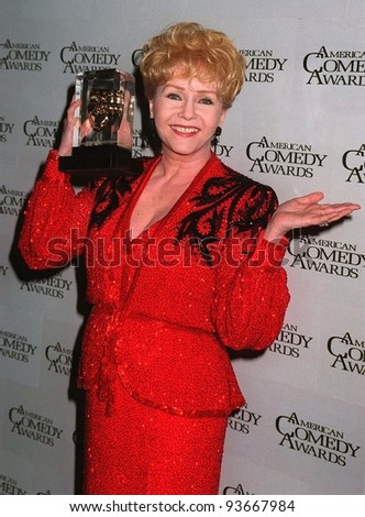 09FEB97:  Actress DEBBIE REYNOLDS at the American Comedy Awards.  She was presented with the Lifetime Achievement Award for Comedy by her daughter, actress CARRIE FISHER.           Pix: PAUL SMITH