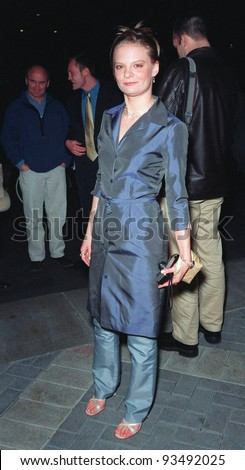 """10FEB99:  Actress MARTHA PLIMPTON at the premiere of her new movie """"200 Cigarettes"""" a comedy set in New York on New Year's Eve 1981.  Paul Smith/Featureflash - stock photo"""