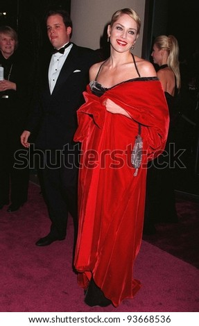 20FEB97: Actress SHARON STONE at the American Film Institute gala at the Beverly Hilton Hotel. Director Martin Scorsese was honored with the AFI Lifetime Achievement Award.   Pix: PAUL SMITH