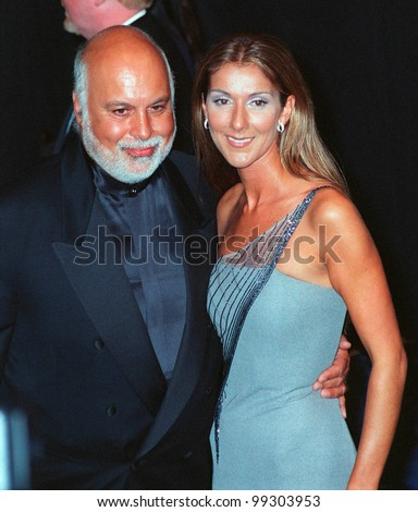 24FEB99: Singer CELINE DION & husband RENE at the 41st Annual Grammy Awards in Los Angeles.  Paul Smith / Featureflash