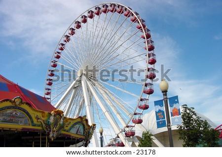 150 feet ferris wheel at the Navy Pier in Chicago