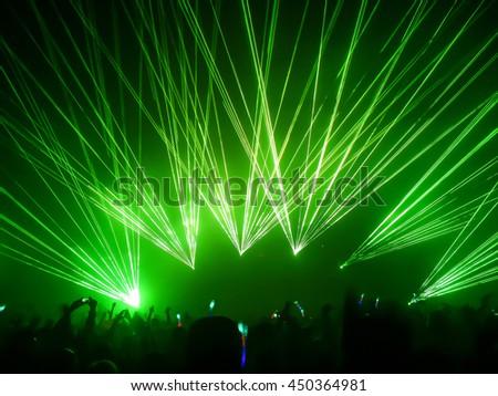 Festival of electronic music. Laser rays. #450364981