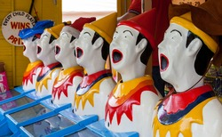 few laughing clowns ball game