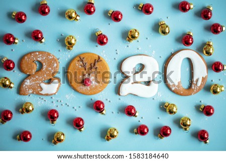 2020. Figures 2020. Figures from gingerbread for the New Year.