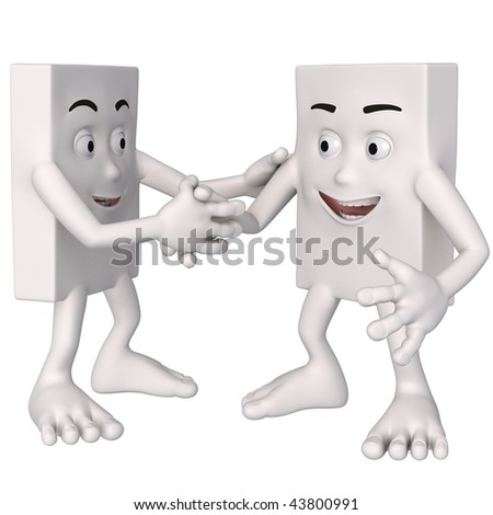 2 figures shaking hands