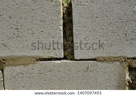 Block-wall construction two Images and Stock Photos - Avopix com