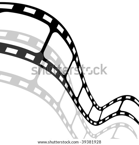 Film strip on white background.