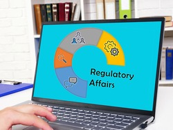 Financial concept about Regulatory Affairs with phrase on the piece of paper.