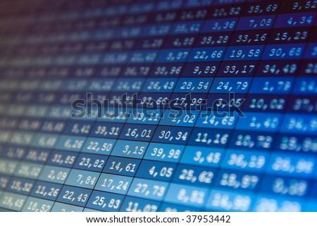 Financial data- stock exchange