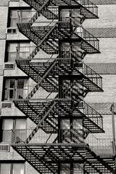Fire escape on an old building in Manhattan