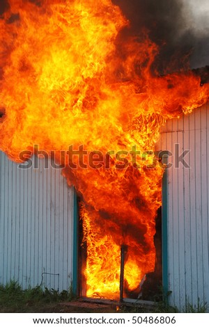 """""""Fire Out the Sliding Glass Door"""" Douglas County Fire District #2 Burn to Learn, Hwy 99S, near Roseburg OR"""