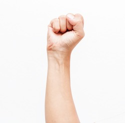 fist on white background