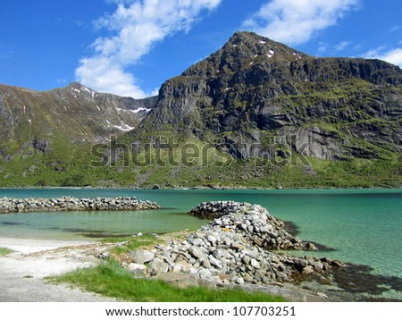 flakstad,  lofoten islands, norway