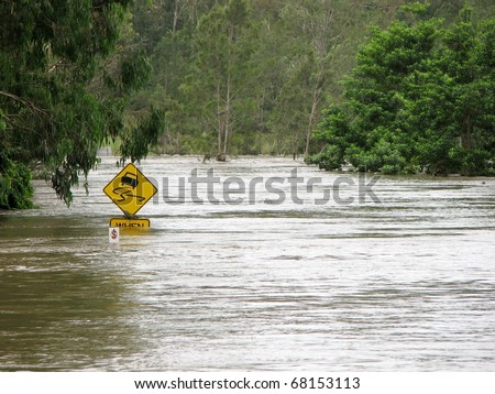 2010 Floodwaters 1 - stock photo
